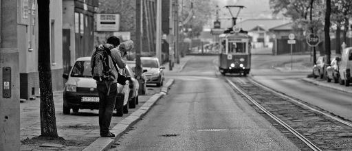 trams b&w